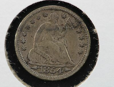 1854 Seated Liberty Half Dime XF 8VOJ