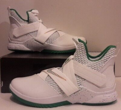 pretty nice 545b5 a82b5 Nike Lebron Soldier Xii 12 Svsm Home White Green Vincent Mary Ao2609-100 B  Mens