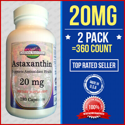 Astaxanthin Powerful Antioxidant Support 10mg +10 =20 Per Serving Size Made USA