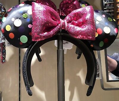Rock The Dots Sequin Minnie Mouse Ears Headband 2019 Disney World Parks NEW