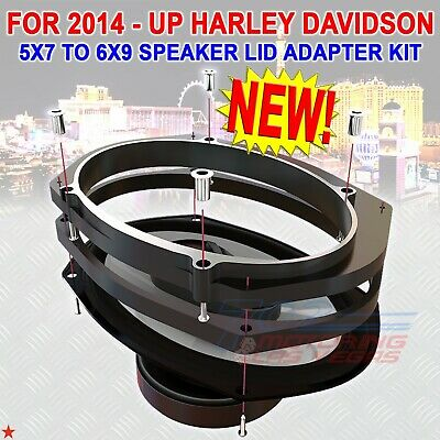 FOR HARLEY TOURING AMERICAN HARD BAG 5 x 7 to 6 x 9 FACTORY LID SPEAKER ADAPTERS