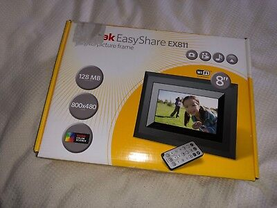 "Kodak EasyShare EX-811 8"" WiFi Digital Picture Frame + 4GB CF Card"