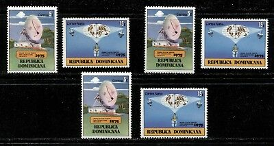 SPACE TRACKING STATION, SATELLITE - DOMINICAN REPUBLIC 1975 Sc 741,C229 x 3 MNH