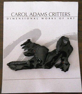 Chinese Crested dog by Carol Adams Critters handmade pin enameled metal