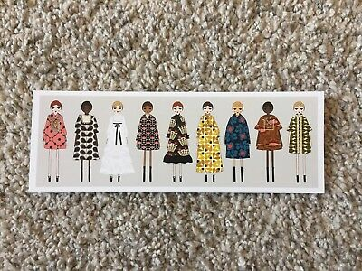 Orla Kiely postcard from A life in pattern Fashion & Textile Museum dress doll
