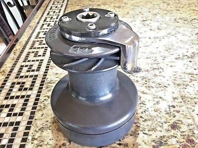 """Heavy Duty Lewmar 42St Self Tailing 2 Speed Winch 6 1/2"""" Base(Alloy Jaws/crown!)"""