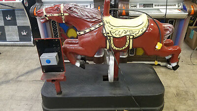 Thunder or Lightning Coin Operated Metal Horse Kiddie Ride