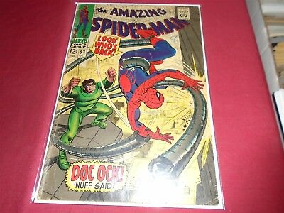 THE AMAZING SPIDER-MAN #53 Silver Age Marvel Comics 1967 GD