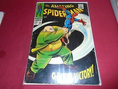 THE AMAZING SPIDER-MAN #60 Silver Age Marvel Comics 1968 GD