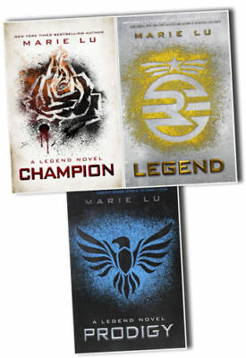 The Legend Trilogy Series Collection Marie Lu 3 Books Set Prodigy, Champion NEW