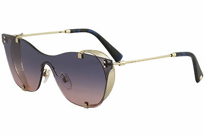 783f510689 Valentino Women s VA2017 VA 2017 3031 E6 Rose Gold Blue Cat Eye Sunglasses