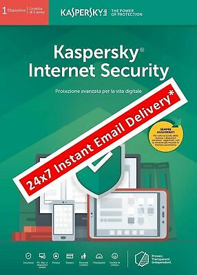 Kaspersky Internet Security 2019 ESD 315-325gg 1 Device (email immediata*)