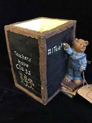 2004 Boyds Bears Collection Student To #1 Teacher No. 4133 Pencil Holder Planter