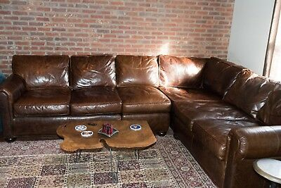 Restoration Hardware Original Lancaster Leather L Sectional