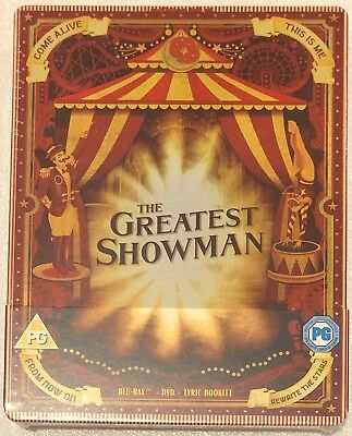 The Greatest Showman Steelbook - UK Exclusive Limited Edition Blu-Ray and DVD