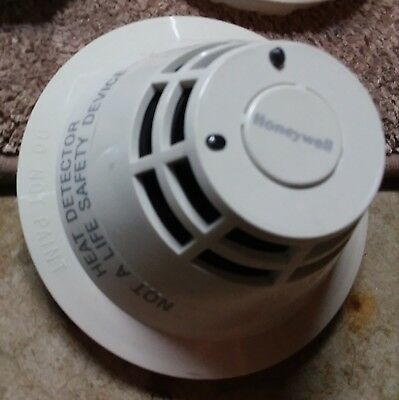 Lot of 10 Honeywell XLS-HRS Intelligent heat detector with bases