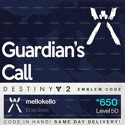 Destiny 2 Guardians Call emblem IN HAND!! SAME DAY DELIVERY!!!