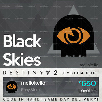 c0cf879847f DESTINY 2 BLACK Skies emblem IN HAND!! SAME DAY DELIVERY!!! -  24.99 ...