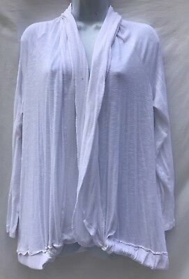 A Pea In The Pod White Open Front Cardigan Lightweight Womens L