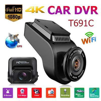 T691C 2in Front 4K 2160P+ Rear 1080P FHD Dash Cam Car DVR Camera WIFI+GPS