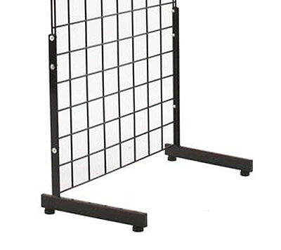 Grid Gridwall SlatGrid Panel Leg Stand Floor Wall Base Display Fixture Black New
