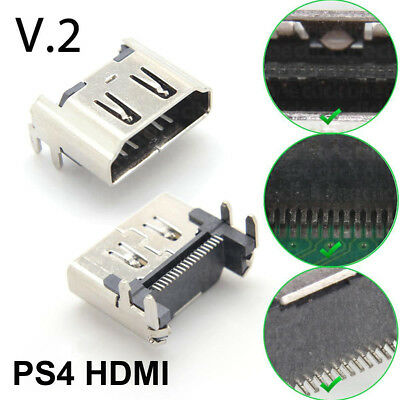 For Sony Playstation 4 PS4 Console HDMI Port Socket Jack Connector V2 Design