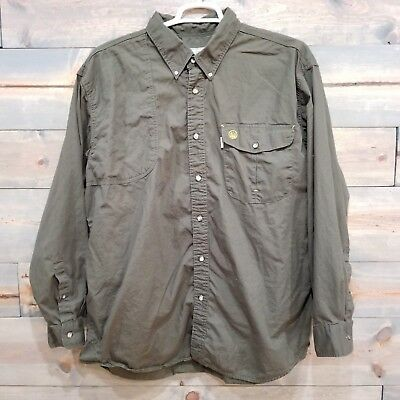 adb1f14d1b1 Beretta - Army Green, Vented, Shooting Fishing Hunting Shirt, Men's Size XXL