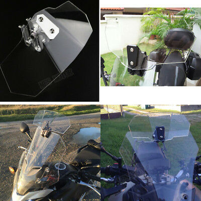 Adjustable Clip On Windshield Extension Spoiler Wind Deflector Motorcycle