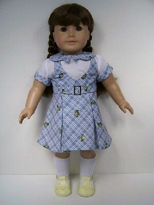 Debs NAVY Plaid-Star Jumper WHITE Blouse Doll Clothes For 18 American Girl