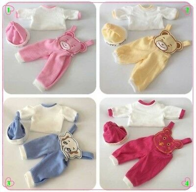Fashion 4Colors 3pcs/set Doll Clothes Hat Suit For 50cm Baby Doll Best Gift