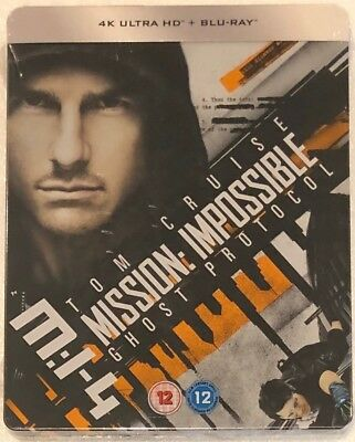 Mission Impossible 4: Ghost Protocol 4K Ultra HD Steelbook - Ltd Edition Blu-Ray