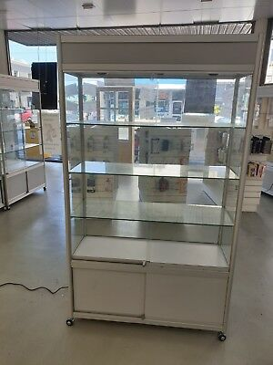 Glass Display Cabinet with Lights (1970mm x 1200mm x 450mm)
