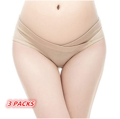 3PACKS Pregnancy Postpartum Underwear Maternity Knickers. Pants Panties Briefs