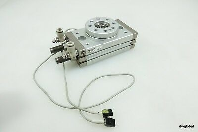 SMC Used MSQB50R Pneumatic Rotary Table cylinder W/ Shock abso CYL-ROT-I-90=2A33
