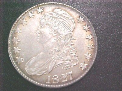 1827 Bust Half Dollar...Choice AU+++..Borderline Uncirculated-No Reserve Auction