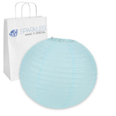 "12"" inch Chinese Paper Lantern - Light Blue - Wedding Party Event Decoration zx"