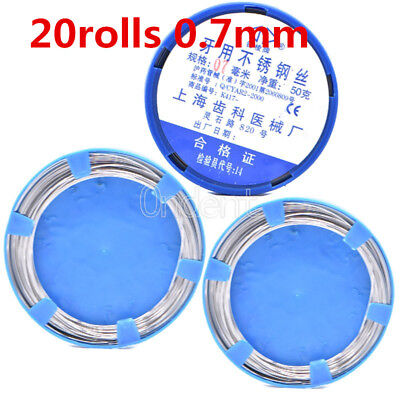 20Roll Dental Orthodontic Stainless Steel Wire 0.7mm Mayitr For Surgical Use