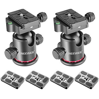 2pcs Metal 360¡ã Rotating Panoramic Ball Head qith 4 Extra Quick Release Plate