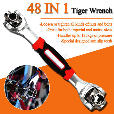 48 in 1 Socket Tiger Wrench In One Socket Works With Spline Bolts All Size Stand