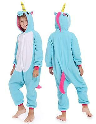 Kids Unicorn Pajamas One Piece Kigurumi Animal Cosplay Costume Unisex Sleepwear
