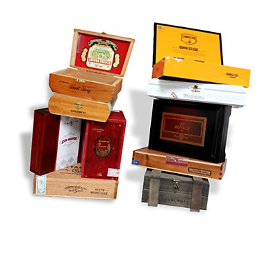 GENERIC Wooden Empty Cigar Boxes Pack of 10 Empty Brown