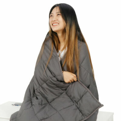 """Queen/Full SIze 72 x 48"""" / 80 x 60"""" Promoted Deep Sleep Weighted Blanket"""