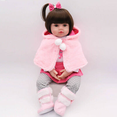 "16"" Reborn Baby Dolls Handmade Girl Silicone Vinyl Lifelike Toddler Doll Gifts"