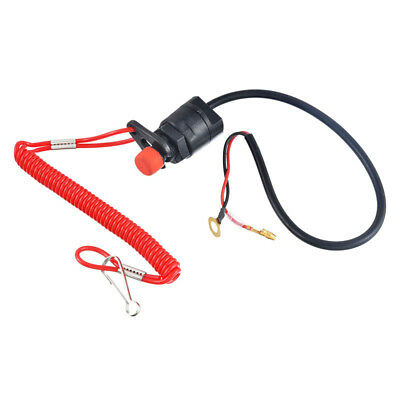 Boat Outboard Engine Motor Emergency Stop Switch&Safety Tether Lanyard