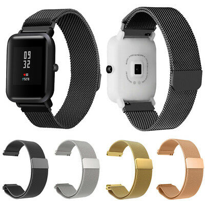 Fashion Stainless Steel Watch Band Strap For Xiaomi Amazfit Bip Youth Watch 20mm