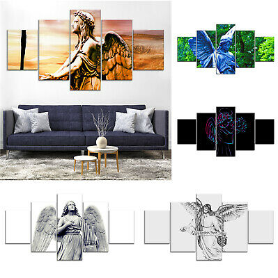 Christian Heaven Angel Canvas Print Painting Framed Home Decor Wall Art Poster