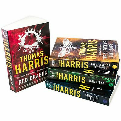 Thomas Harris Hannibal Series 4 Book Collection Red Dragon, Silence Of The Lambs