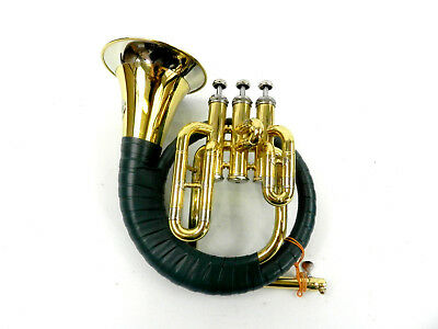 Hunting horn valves Fürst-Pless Bb case and mouthpiece (DR18-233)