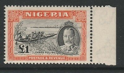 Nigeria 1936 George V £1 Black and orange SG 45 Mint.