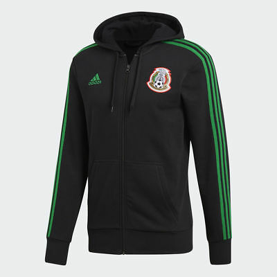 Adidas Mexico 3-Stripes Full Zip Hoodie World Cup 2018 Black/Green